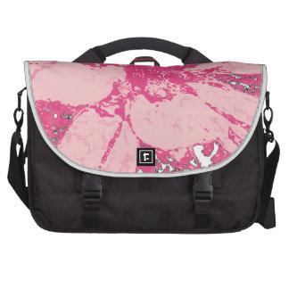 Rose Pink Floral Dahlia Flower Pattern Laptop Bag