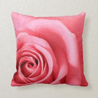Rose Pink Floral Pillow Throw Cushion