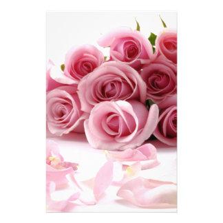 Rose Pink Flower Flyer Design