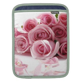 Rose Pink Flower Sleeve For iPads