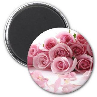 Rose Pink Flower Refrigerator Magnets