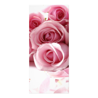 Rose Pink Flower Personalized Rack Card
