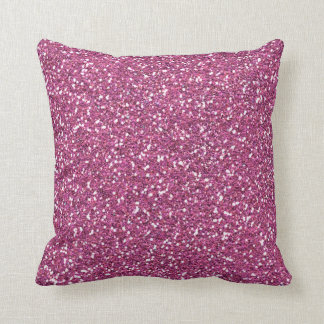 Rose Pink Glamour Throw Pillow