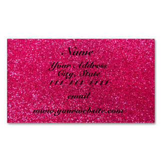 Rose pink glitter magnetic business cards (Pack of 25)