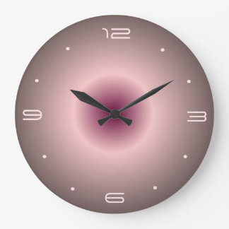 Rose Pink Illuminated Design> Round Wall Clocks