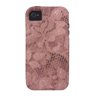 Rose Pink Lace Vibe iPhone 4 Case