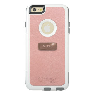 Rose Pink OtterBox 3D Rose Gold Monogram OtterBox iPhone 6/6s Plus Case
