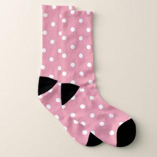 Rose pink polka dots socks