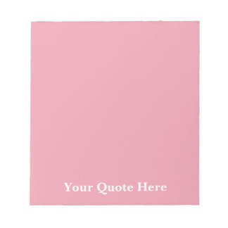 Rose Pink Template Notepad