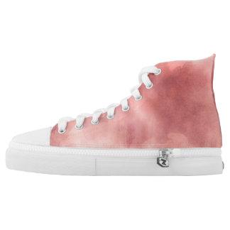 Rose Pink Watercolor High Tops