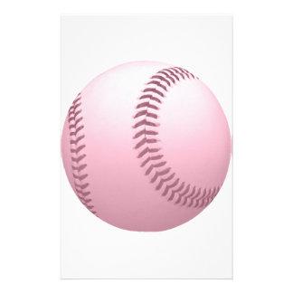 Rose Pinkish Colored Baseball Stationery