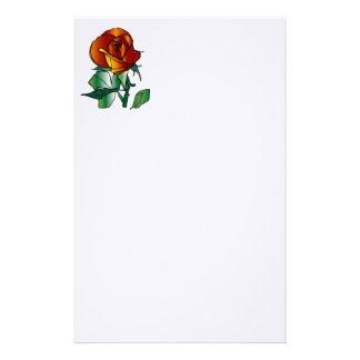 rose plain stationary stationery