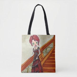 Rose Pop Surrealism Titanic Inspired Illustration Tote Bag