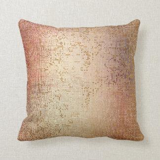 Rose Powder Gold Glam Brush Metallic Sequin Cushion