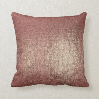 Rose Powder Gold Glam Metallic Pillow