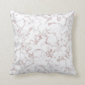 Rose Powder Gold Metallic Glitter Marble Carrara Cushion