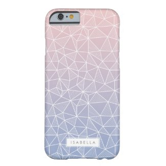 Rose Quartz and Serenity Ombre Geometric Pattern iPhone Case