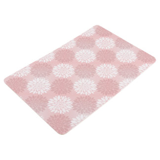 Rose Quartz Chrysanthemum Ombre Flower Kimono Pink Floor Mat