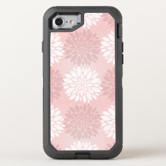 Rose Quartz Chrysanthemum Ombre Flower Kimono Pink OtterBox Defender iPhone 7 Case