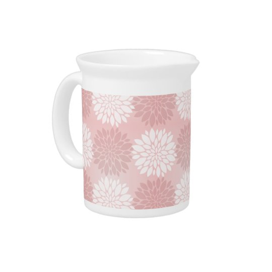 Rose Quartz Chrysanthemum Ombre Flower Kimono Pink Pitchers