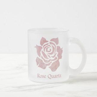 Rose Quartz Frosted Glass Coffee Mug