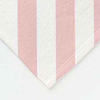 Rose Quartz Pink Striped Fleece Blanket