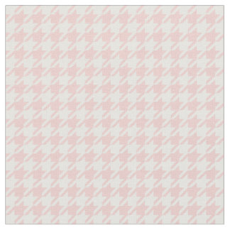 Rose Quartz Pink & White Houndstooth Fabric