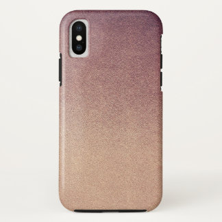 Rose Quartz Rose Gold Ombre Glitter Sand iPhone X Case