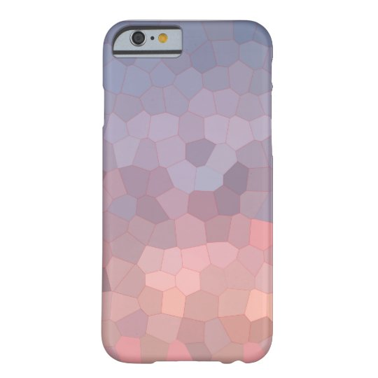 Rose Quartz Serenity Low Poly Mosaic Barely There iPhone 6 Case