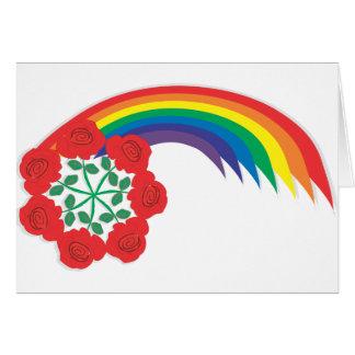 Rose-Rainbow arc Greeting Card