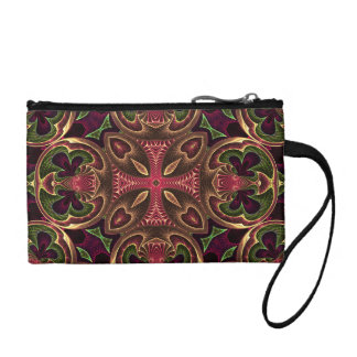Rose Red Cross - Kaleidoscope Abstract Design Coin Wallet