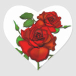 Rose Red Illustration Heart Stickers