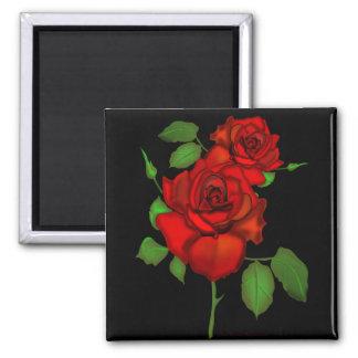 Rose Red Illustration Magnet
