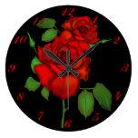 Rose Red Illustration Wall Clock