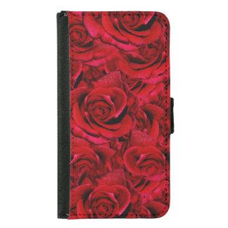 Rose red samsung galaxy s5 wallet case