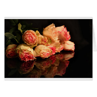 Rose reflection greeting card