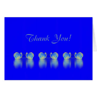 Rose Reflections card ~ blue blue