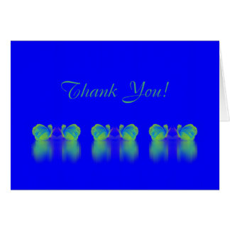 Rose Reflections card blue green