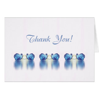 Rose Reflections card ~ white blue