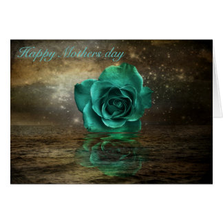 Rose reflections greeting card