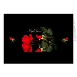 Rose, reflections greeting card