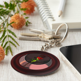 Rose reflections key ring