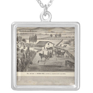 Rose res, Warm Spring Landing Silver Plated Necklace