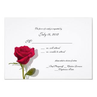 "Rose Response Card 3.5"" X 5"" Invitation Card"