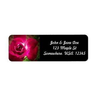 Rose Return Address Label