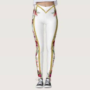 8f8931bf5f4 Rose Romantique gucci inspired legging white gold