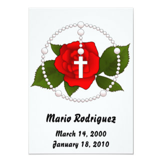 Rose Rosary Invite