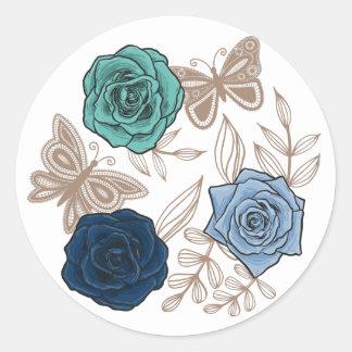 Rose Round Sticker