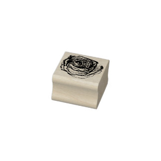 Rose Rubber Stamp