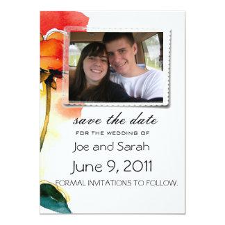 "rose save the date wedding invitations 5"" x 7"" invitation card"